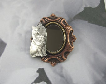 Cat Brooch- Cat Lover Gift- Cat Rescue- Cat Pin- Pretty Kitty- Gift for Cat Rescue
