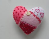 Pink Patchwork Lavender-Filled Heart