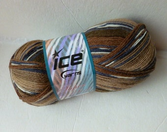 Sale Browns Super Sock by Ice Yarns