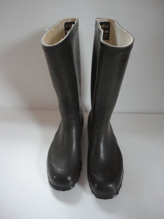 Vintage Hunter Green Oil Proof Nokia Rubber Boots Rubber Farm