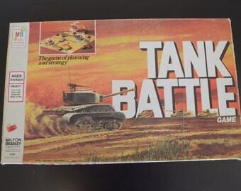 Vintage 1975 Tank Battle Board Game