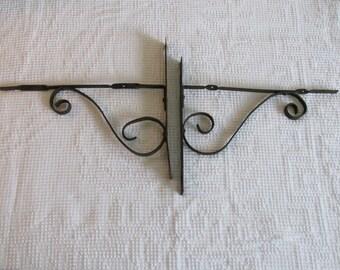 Pair of Wrought Iron Brackets, Shelf Porch Brackets