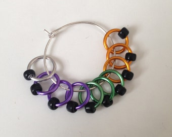 Halloween Beaded Stitch Markers
