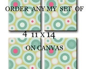 Order any of my Print on canvas set of 4 11X14 Gallery Wrapped Baby Nursery Decor Kid Art Kids Wall Art Nursery Art Print on canvas Baby Art