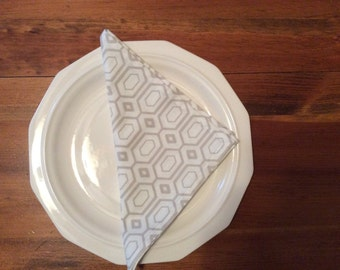 Dinner Napkins in Neutral Colors