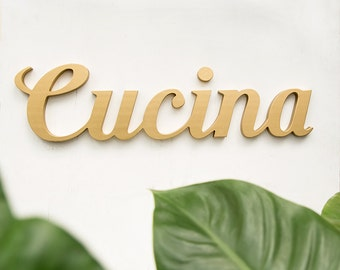 Cucina sign - kitchen signs - cucina - italy wall art - italian kitchen decor - kitchen signs - cucina wood sign - kitchen signs in italian