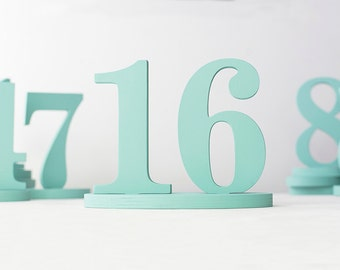 Table numbers mint custom colors wedding decorations