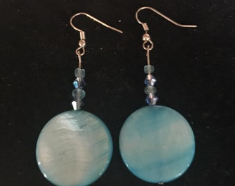 Blue Dangle Earings