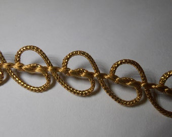 Vintage metalic gold trim, mid century trim, gold edging, trim yard, vintage sewing trim,