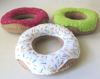 Felt donuts, Donut Toy, Felt Food donut, Play Food Donut