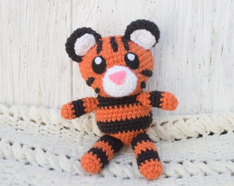 Tiger Stuffed Animal - Choose Your Colors - Crochet Tiger