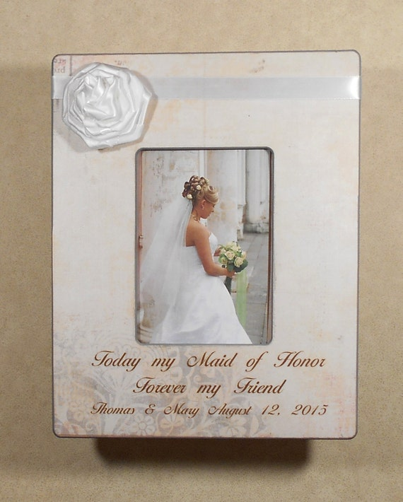 WEDDING GIFT SISTER Today My Maid of Honor Forever My Friend ...