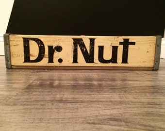 Vintage Rare Dr. Nut Wood Soda Pop Crate Case