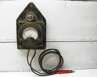 Vintage Electrical Voltage Tester, Wooden Casing, Westinghouse Voltage Gauge Volt Tester
