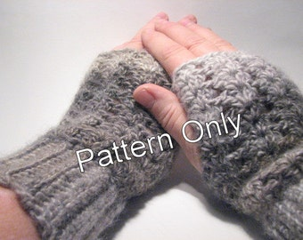 PATTERN: Chunky Lace Fingerless Mitts