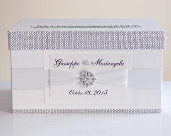 Wedding Card box / Card holder / Wedding money box - white