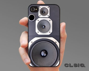 Stereo Speaker Case for iPhone 6/6S, 6+/6+S, 5/5S, 5C, 4/4S, iPod Gen 5, Samsung Galaxy S6, Galaxy S5, Galaxy S4, Galaxy S3