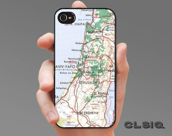 Vintage Jerusalem Israel Map Case for iPhone 6/6S, 6+/6S+, 5/5S, 5C, 4/4S, iPod Gen 5, Samsung Galaxy S6, Galaxy S5, Galaxy S4, Galaxy S3