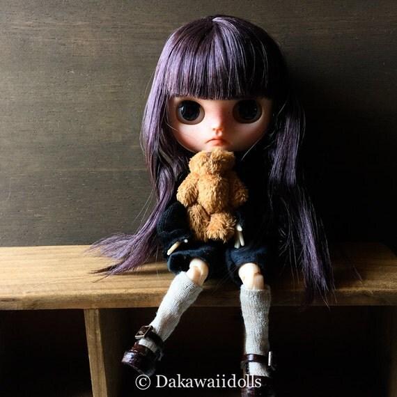One Customized OOAK Custom Middie Blythedoll / Kiriko