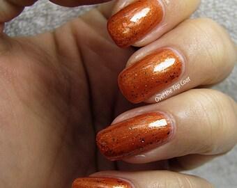 The Sanderson Sisters - Custom Orange Glitter Nail Polish