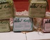 5 bars of coconut milk soaps