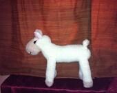 Super Soft Slipper Sock Cutie Lamb  Hand sewn Sock Monkey Pal