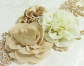 Floral Bridal Sash / Lace Sash /  Ribbon Sash / Floral Sash /