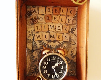 """Dr Who Shadowbox, """"Wibbly Wobbly Timey Wimey"""" - A Great Christmas Idea!"""