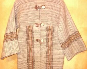 WoMeN's TweeD WooL HiPPiE CLoaK / JacKeT / SweaTeR/ PonCHo BeLLeD SLeeVes M / L