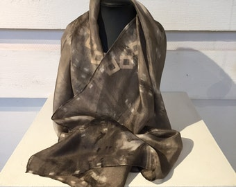 70. Eco printed scarf