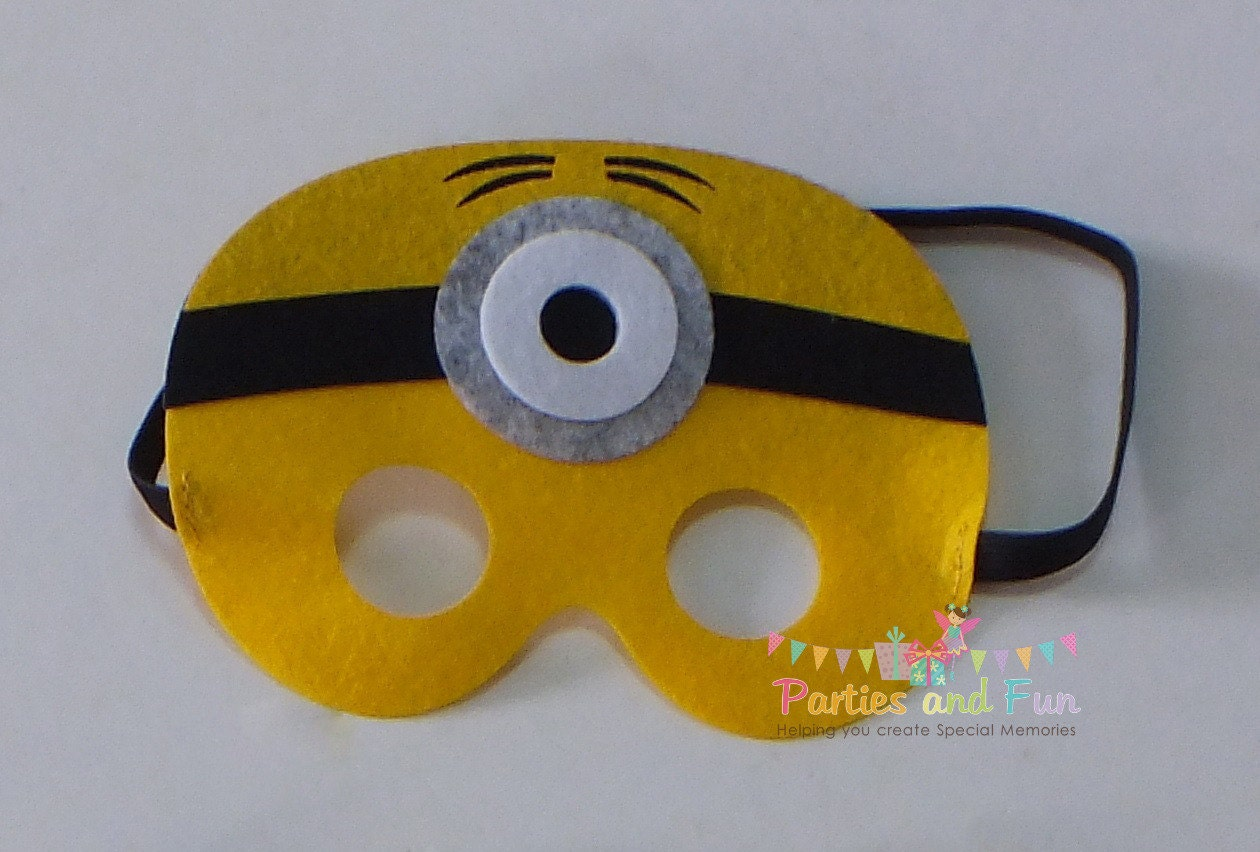 minion mask minion party favors minion birthday by. Black Bedroom Furniture Sets. Home Design Ideas