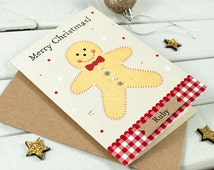Christmas Card - daughter son children niece nephew - personalised