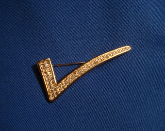 Swarovski Check Pin or Brooch
