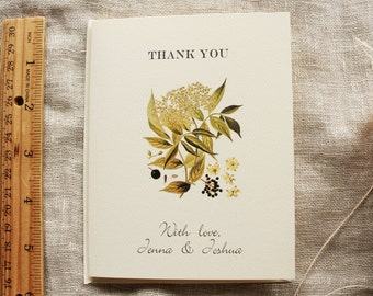 Baby's Breath Thank You Card Set Wedding or Shower