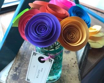 Paper flower bouquet, hostess gift, small bouquet
