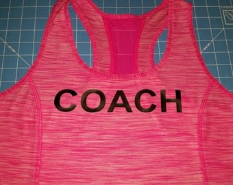 Coach tank top, team beachbody coach