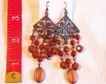 Vintage Dangling Beaded Earrings