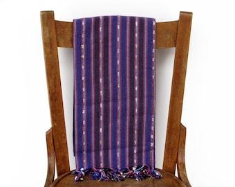 PESHTEMAL Fouta Handwoven Cotton Turkish Towel Turkish Bath Towel Yellow Sarong Pareo Turkish Beach Towel Spa Yoga Towel XANADU Purple Blue