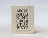 Framed Vintage Graphic Lettering Print - Vintage Alphabet Print - 1916 Basic Lettering Book Page - Graphic Ephemera - Basic Lettering