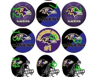 "1"" Bottle Cap Images-Baltimore Ravens"