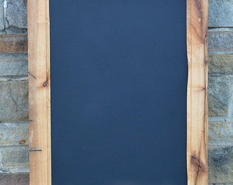 """PRiMiTiVE Maple BARNWOOD CHALKBOARD 20"""" x 30 3/4""""  Reclaimed from 150 year old barn! / Handcrafted! #16JCH11"""