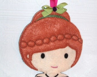 Embroidered Ice Sister Inspired Hair Bow Holder /Barrette Holder/ Clippie Keeper/ Hair clip Organizer