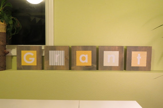Items Similar To Large Wooden Block Letters