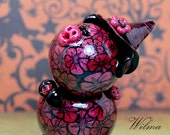 Witch Apprentice Wilma Polymer Clay Piglet