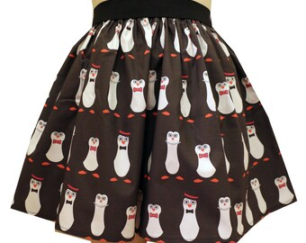 Tuxedo Penguins Full Skirt