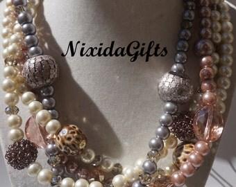 Four Strand Beauty Necklace Set