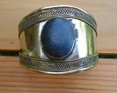 Bohemian bracelet- Stacking bracelet- Aqeeq bracelet- Cuff bracelet- Afghan bracelet- Afghan cuff- Kuchi cuff- Black stone bracelet- Gypsy