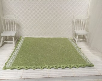Dollhouse Green Rug - Free Shipping to the US