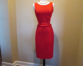 Red Hot Two Piece Pencil Skirt Set