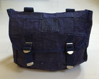 1980s Denim Patchwork Backpack Vintage Deadstock